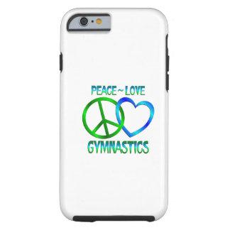 Peace Love GYMNASTICS Tough iPhone 6 Case