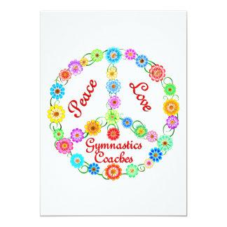 PEACE LOVE GYMNASTICS COACHES PERSONALIZED INVITES