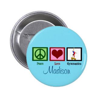 Peace Love Gymnastics Custom Cute 6 Cm Round Badge