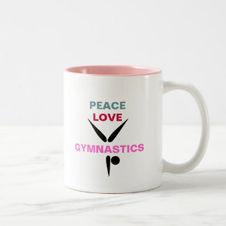 Peace Love Gymnastics Mug (Pink)