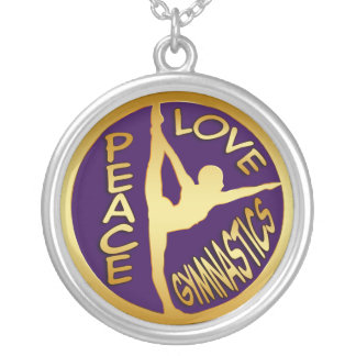 PEACE LOVE GYMNASTICS NECKLACE