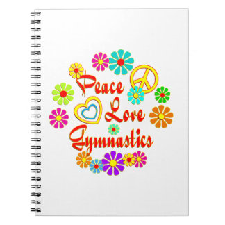 PEACE LOVE Gymnastics Notebooks
