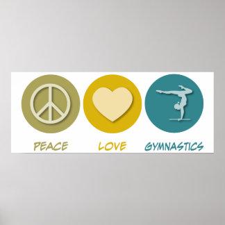 Peace Love Gymnastics Posters