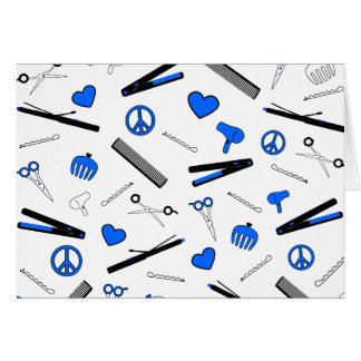 Peace, Love, & Hair Accessories (Bright Blue) Cards