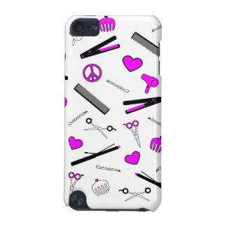 Peace, Love, & Hair Accessories (Fuchsia) iPod Touch (5th Generation) Case