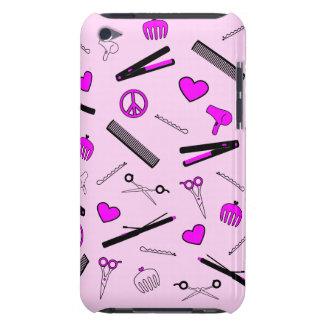 Peace, Love, & Hair Accessories (Fuchsia) iPod Touch Case