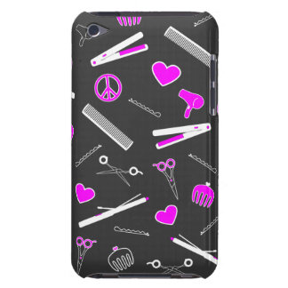 Peace, Love, & Hair Accessories (Fuchsia Dark) Case-Mate iPod Touch Case