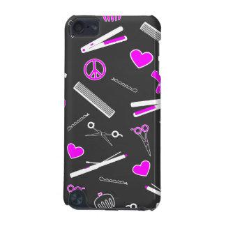Peace, Love, & Hair Accessories (Fuchsia Dark) iPod Touch 5G Cases