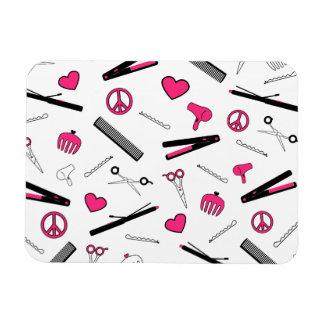 Peace, Love, & Hair Accessories (Pink) Rectangular Magnet