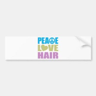 Peace Love Hair Bumper Stickers