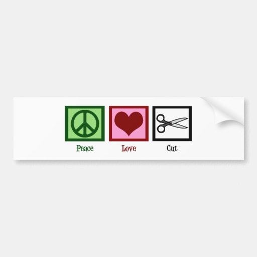 Peace Love Haircuts Bumper Stickers