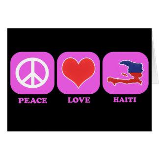 Peace Love Haiti Greeting Card
