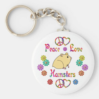 PEACE LOVE HAMSTERS KEY RING