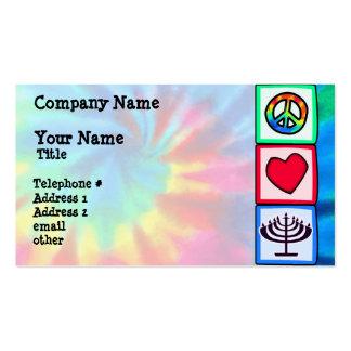Peace, Love, Hanukkah Business Card Templates