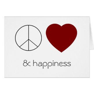 peace love & happiness card