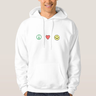 Peace Love Happiness Hooded Pullover