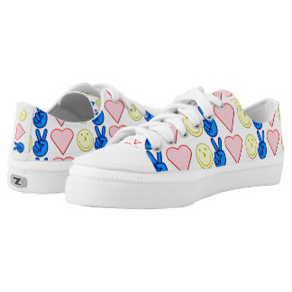 Peace Love Happiness Low Tops