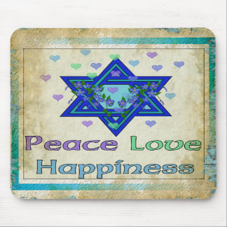 Peace Love Happiness Mousepads