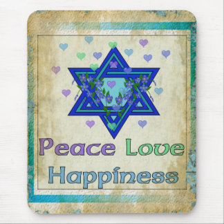 Peace Love Happiness Mouse Pad