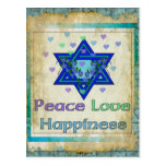 Peace Love Happiness Postcard
