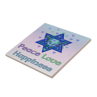 Peace Love Happiness Tiles