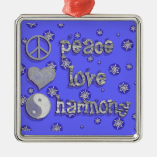 Peace, Love, Harmony Christmas Ornament