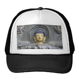 Peace Love Harmony with Buddha Cap