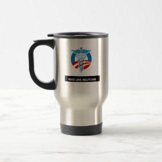 Peace. Love. Health Care. Headline Coffee Mugs