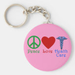 Peace Love Healthcare Products Basic Round Button Key Ring