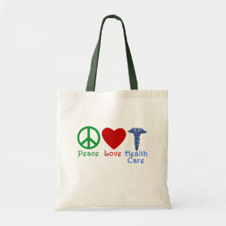 Peace Love Healthcare Products Tote Bag