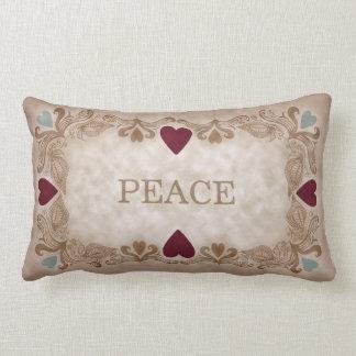 Peace Love Hearts Lumbar Pillow Throw Cushions