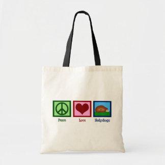 Peace Love Hedgehogs Tote Bags