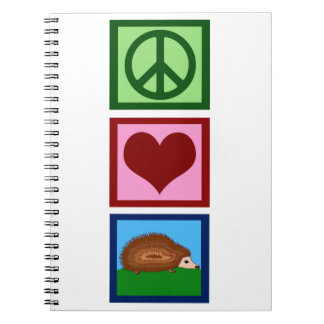 Peace Love Hedgehogs Note Book