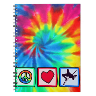 Peace, Love, High Jump Notebooks