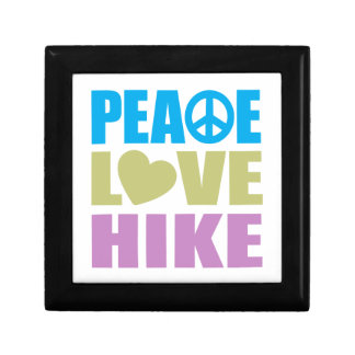 Peace Love Hike Small Square Gift Box