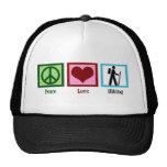Peace Love Hiking Cap