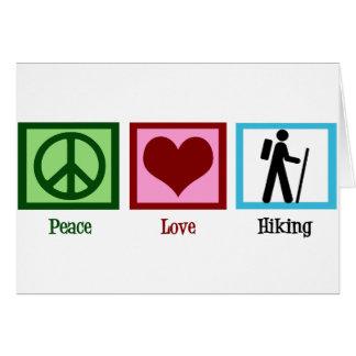 Peace Love Hiking Card