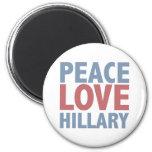 Peace Love Hillary 6 Cm Round Magnet