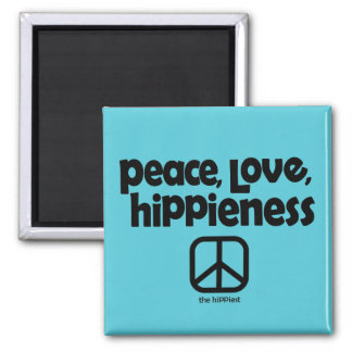 Peace Love Hippieness Magnet