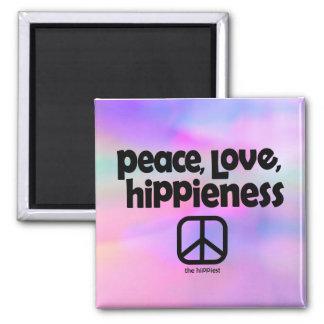 Peace, Love, HiPPieness Tie Dye Magnet