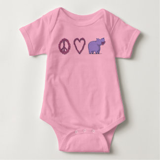 Peace, Love & Hipponess Baby Bodysuit