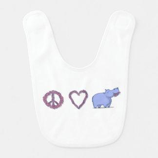 Peace, Love & Hipponess Bibs