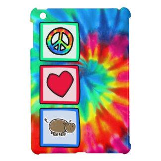 Peace, Love, Hippos iPad Mini Cover