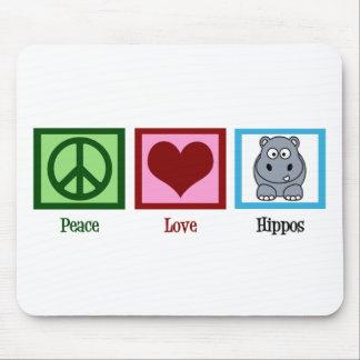 Peace Love Hippos Mouse Mat