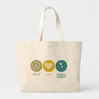 Peace Love Hispanic-American Studies Bag