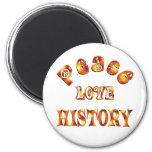PEACE LOVE HISTORY REFRIGERATOR MAGNET