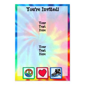 Peace, Love, Hockey 13 Cm X 18 Cm Invitation Card