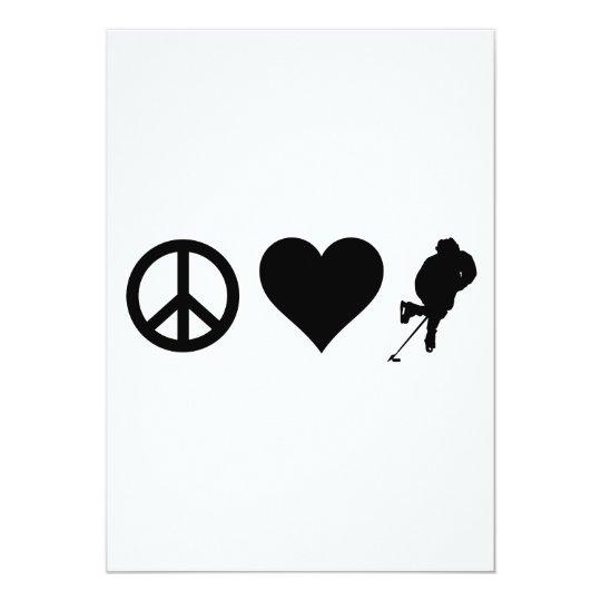 Peace Love Hockey Card