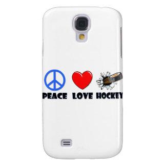 Peace Love Hockey Galaxy S4 Cover