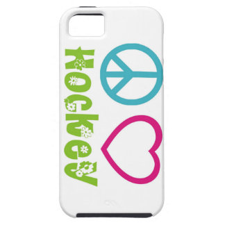 Peace Love Hockey Case For The iPhone 5